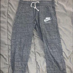 Nike sweats.